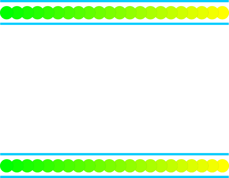 Illustration of a blank frame border with green and yellow circles : Free Stock Photo