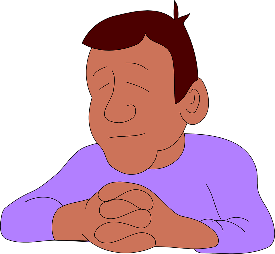 Illustration of an African American man praying : Free Stock Photo