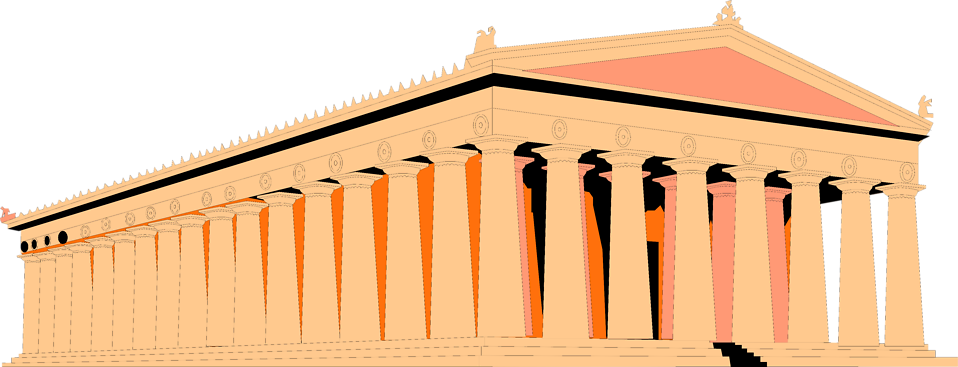 Illustration of the Parthenon in Greece : Free Stock Photo