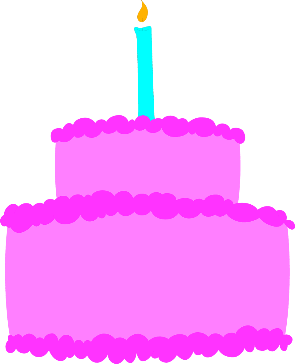 Illustration of a purple birthday cake : Free Stock Photo
