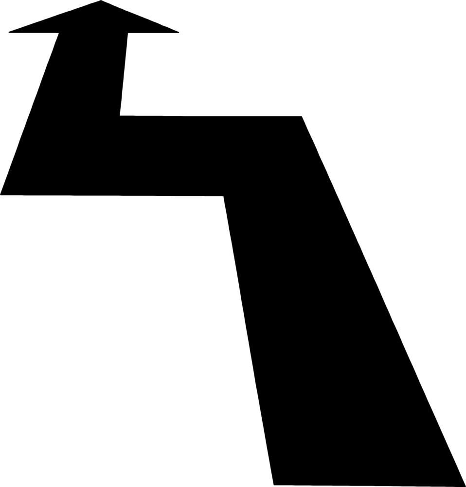 Illustration of a black forward arrow : Free Stock Photo