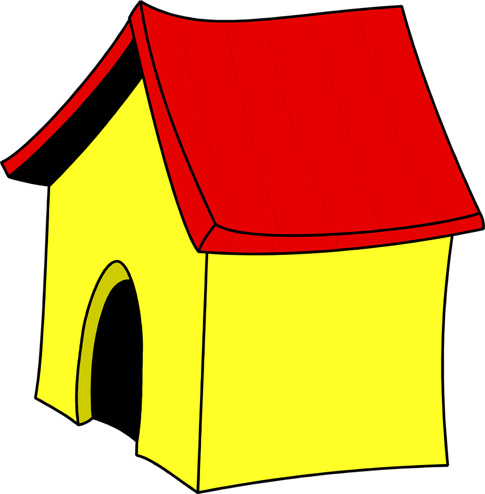 Illustration of a yellow dog house : Free Stock Photo
