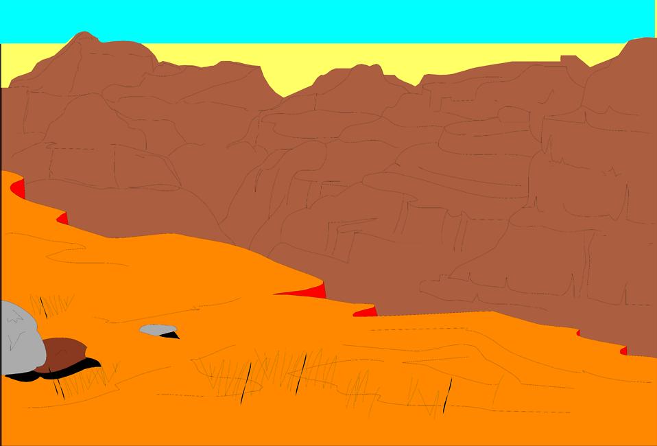 Illustration of the Grand Canyon in Arizona : Free Stock Photo
