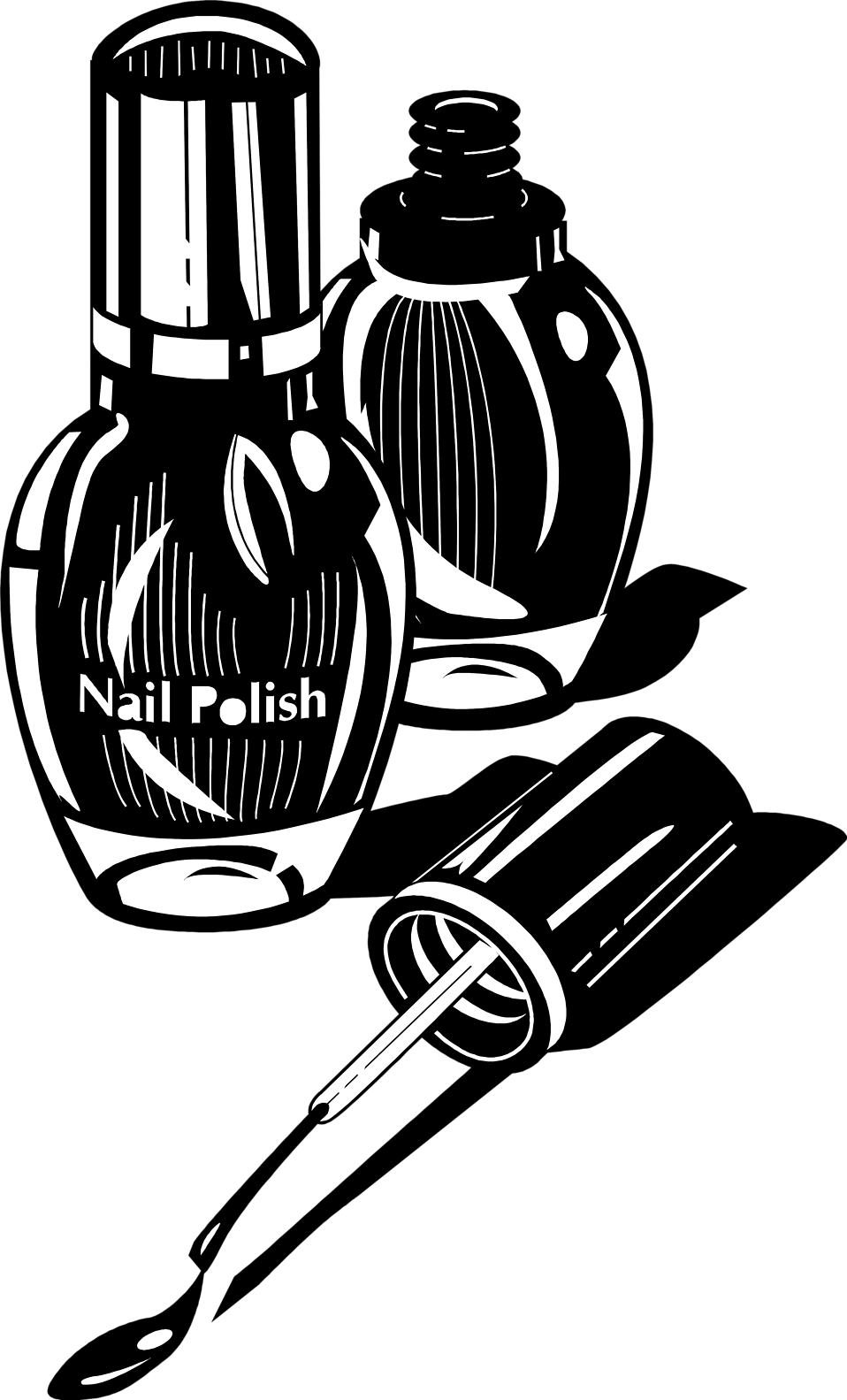 Illustration of nail polish bottles : Free Stock Photo