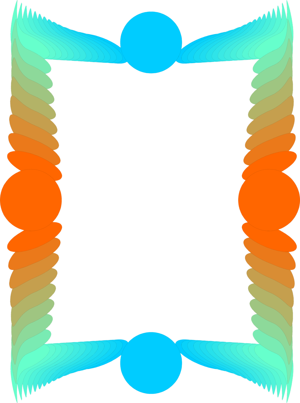 Illustration of a colorful blank frame border : Free Stock Photo