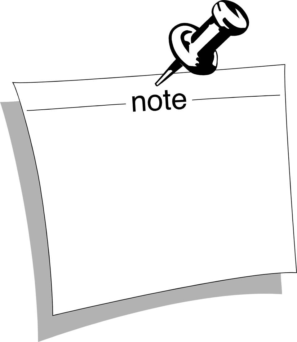 Illustration of a blank note.