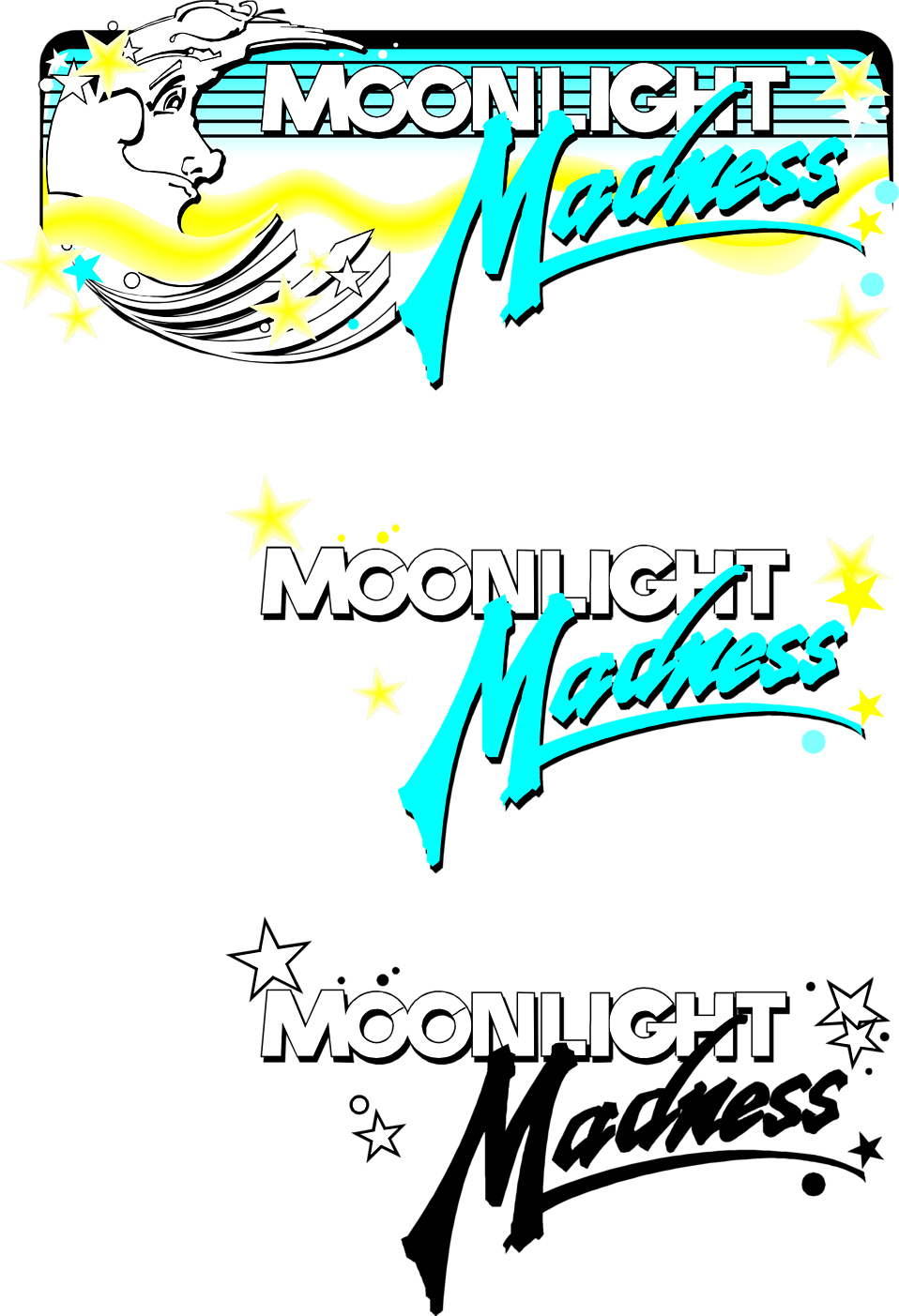Illustration of moonlight madness promo texts : Free Stock Photo