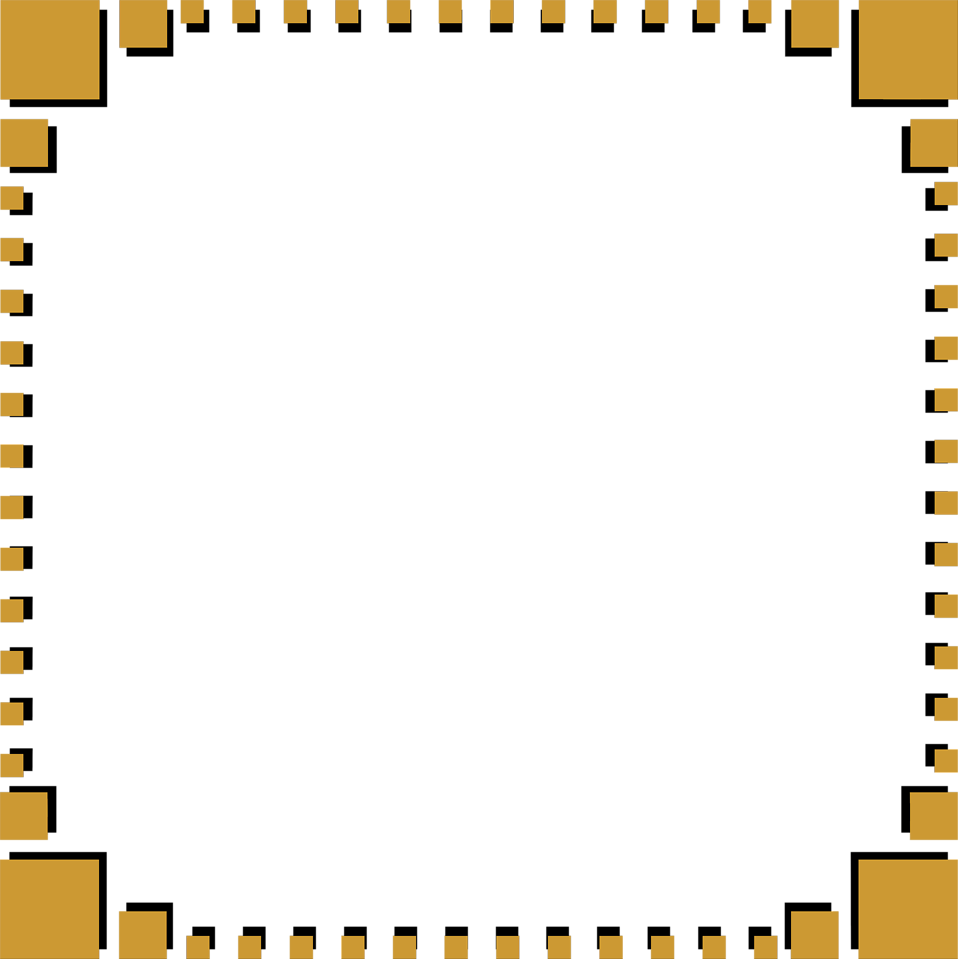 Illustration of a blank frame border of brown squares : Free Stock Photo