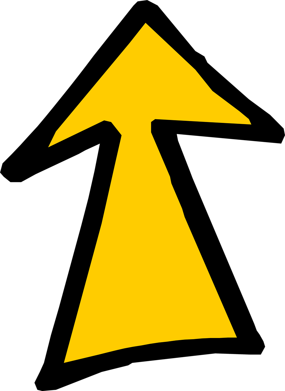 Illustration of a yellow up arrow : Free Stock Photo