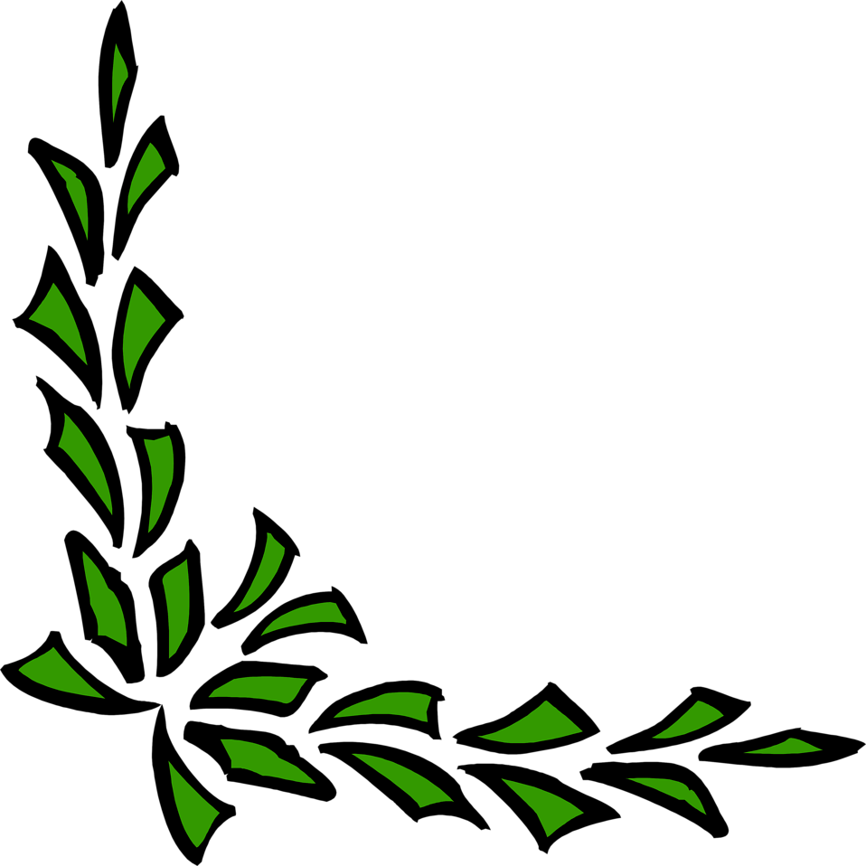 Illustration of a green lower left frame corner : Free Stock Photo