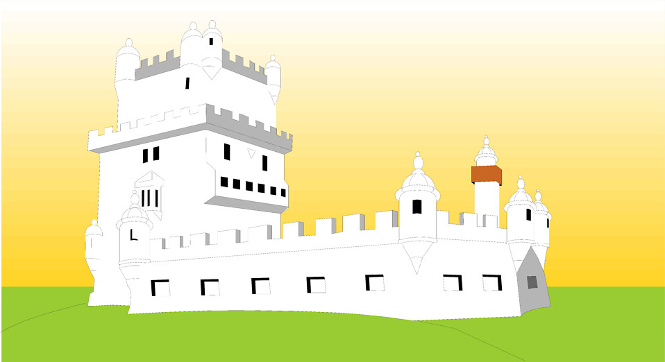 Illustration of a Spanish castle : Free Stock Photo