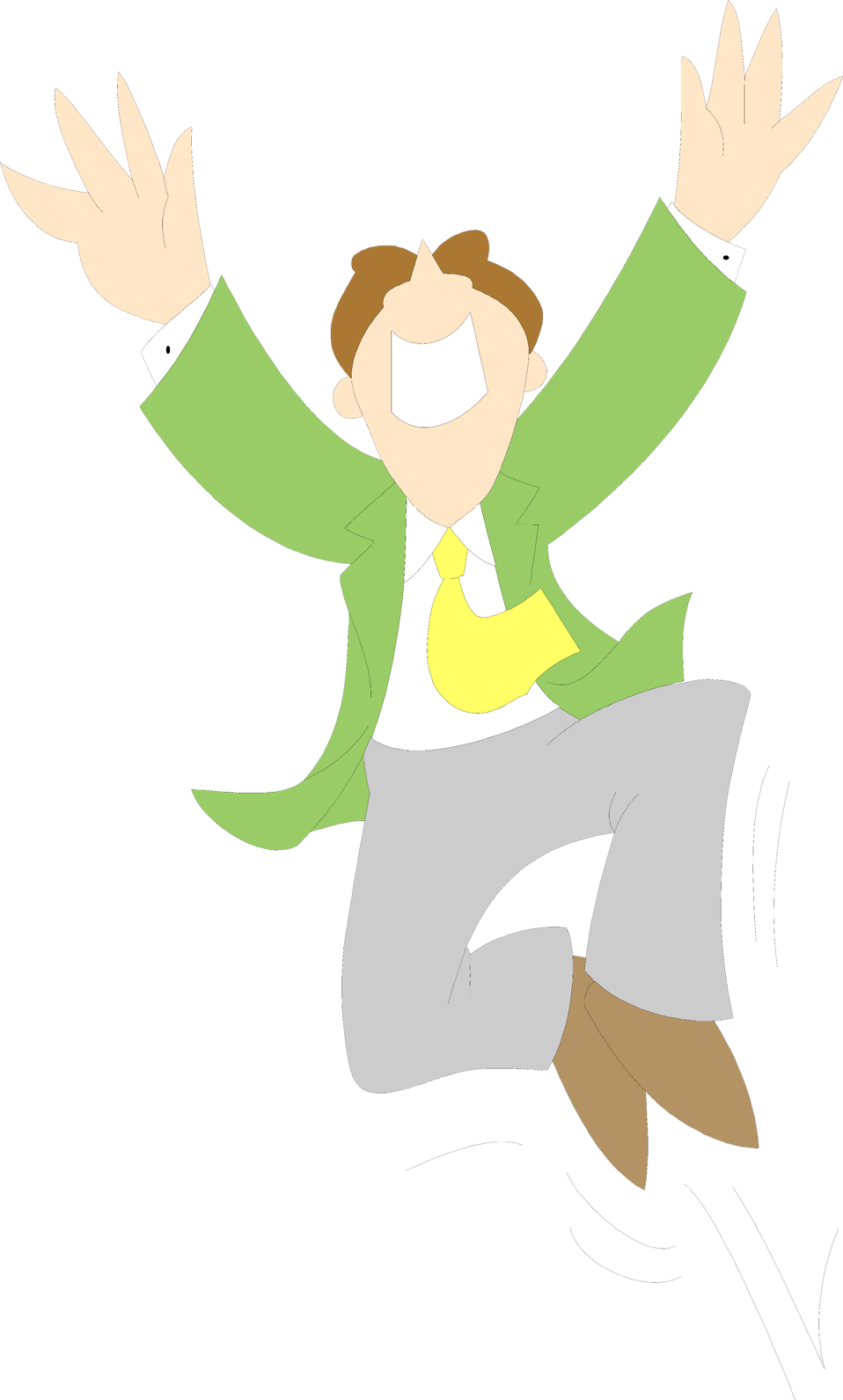 Illustration of a business man jumping : Free Stock Photo