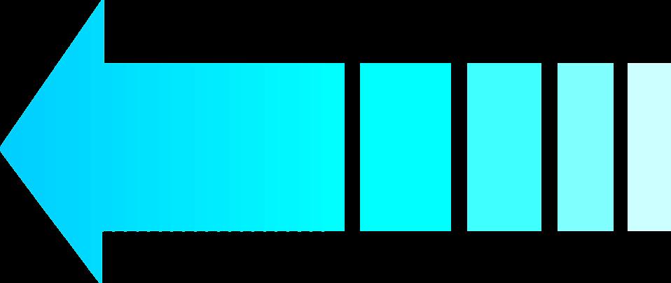 Illustration of a left facing blue arrow : Free Stock Photo