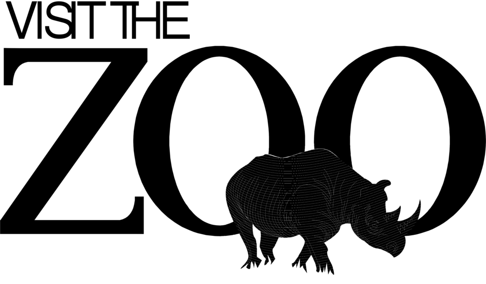 Illustration of zoo promotional text with a rhino : Free Stock Photo