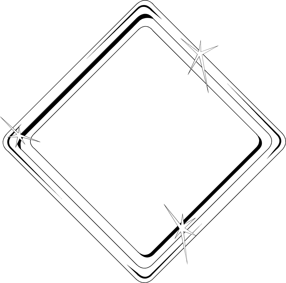 Illustration of a blank diamond shaped frame border : Free Stock Photo