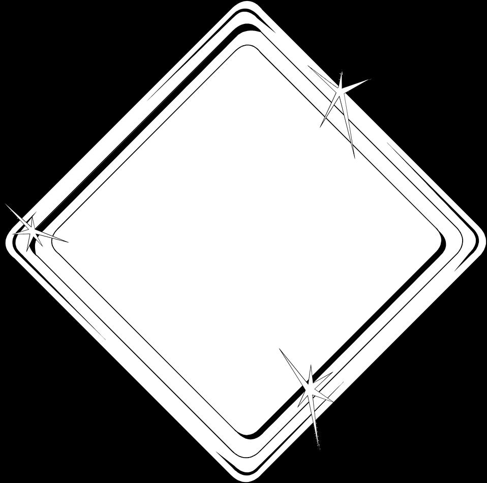 Illustration of a blank diamond shaped frame border : Free Stock Photo