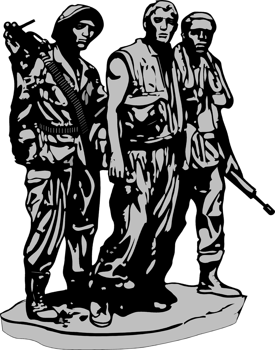 Illustration of the Vietnam Veterans Memorial in Washington DC : Free Stock Photo