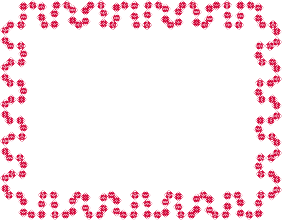 Illustration of a blank frame of red squares : Free Stock Photo