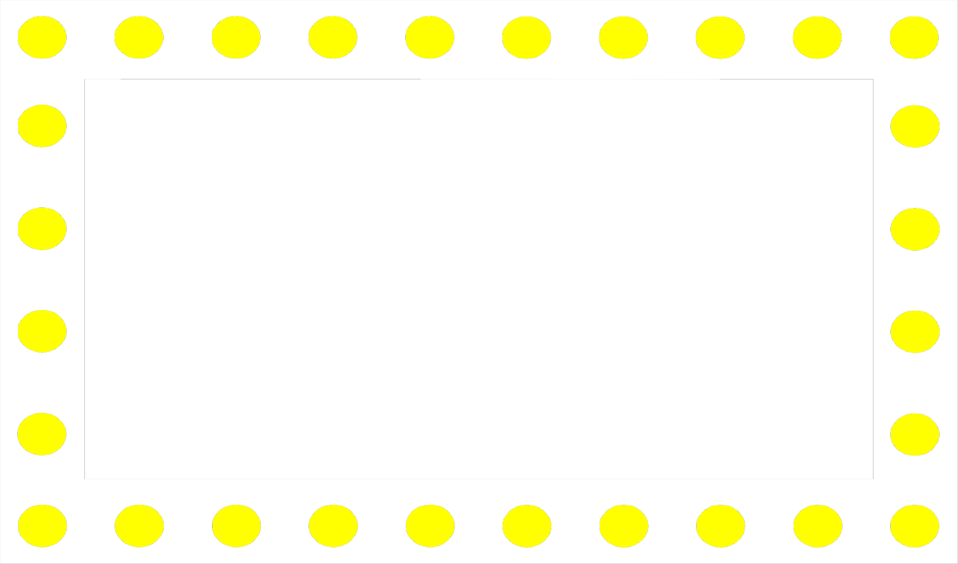 Illustration of a frame of yellow circles : Free Stock Photo