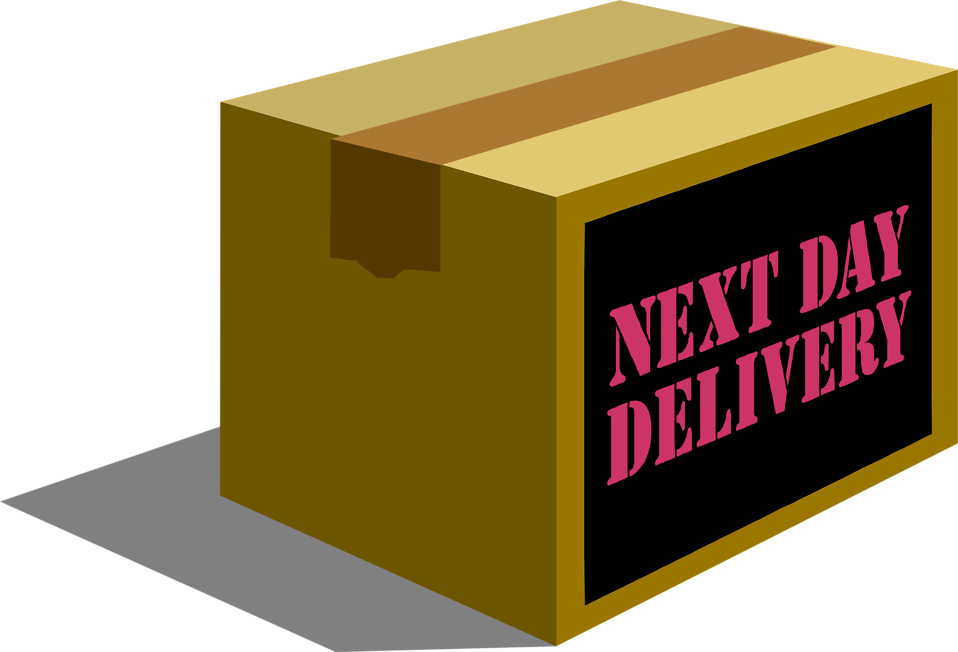 Illustration of a next day delivery package : Free Stock Photo
