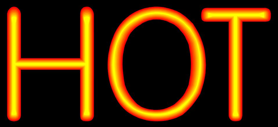 Illustration of hot text : Free Stock Photo
