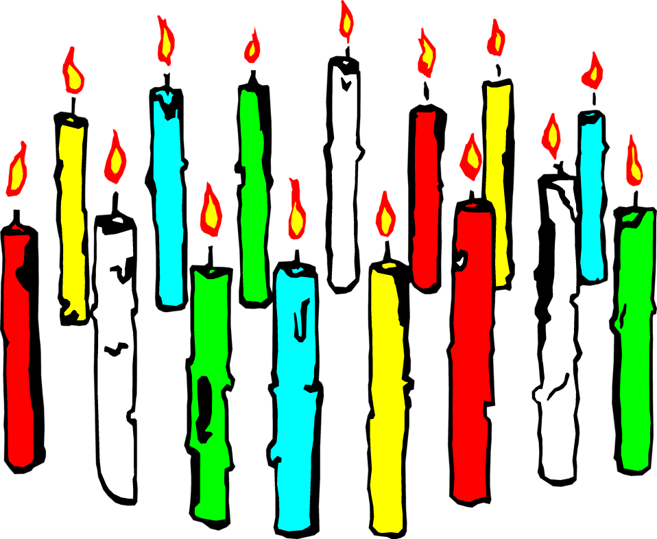 Illustration of  colored candles : Free Stock Photo