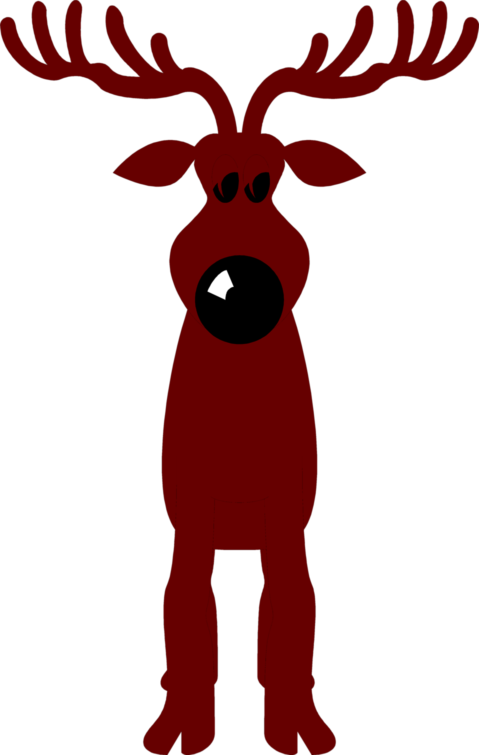 Illustration of a cartoon reindeer : Free Stock Photo