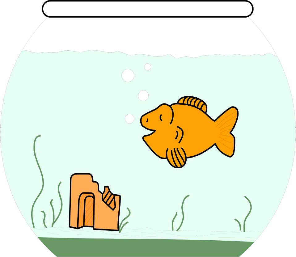 kissing fish cartoon. hot Gold Fish cartoon 10