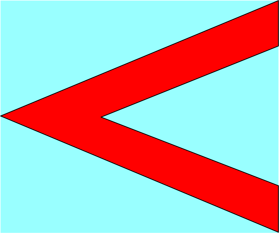 Illustration of a red left facing arrow : Free Stock Photo
