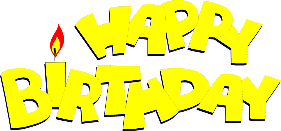 Illustration of yellow happy birthday text : Free Stock Photo