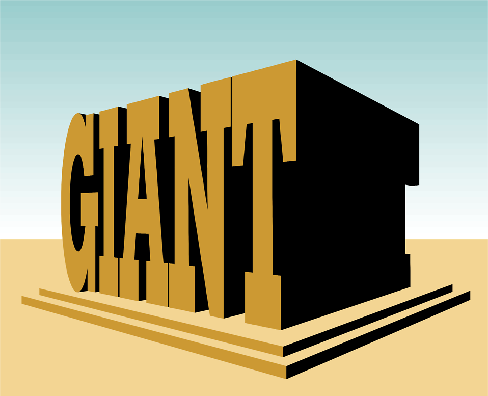 Illustration of giant text : Free Stock Photo