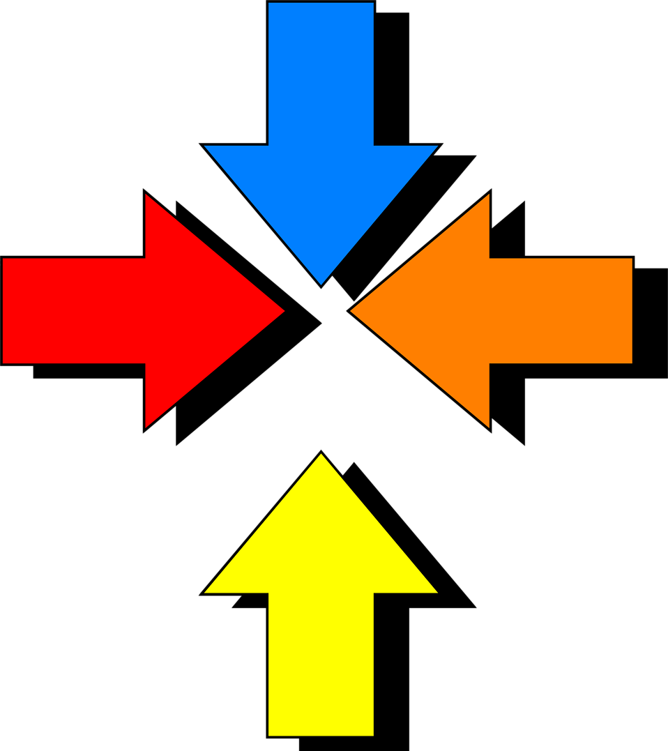 Illustration of  multiple colored arrows : Free Stock Photo