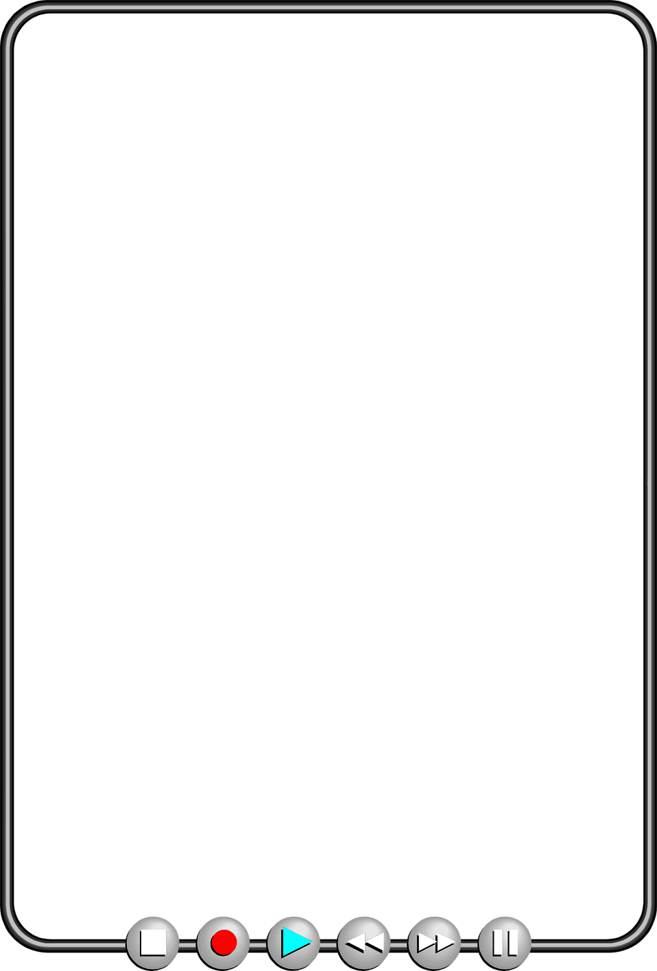 Illustration of a blank media player frame : Free Stock Photo