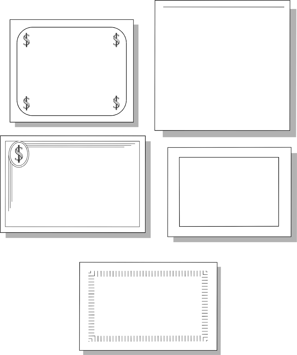 Illustration of blank coupons.