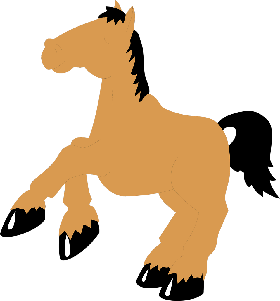 Illustration of a cartoon horse : Free Stock Photo