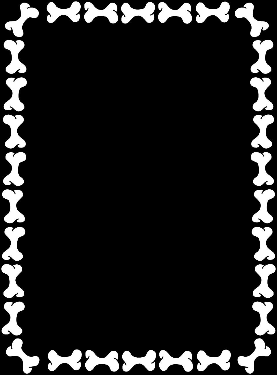 Illustration of a blank border of dog bones : Free Stock Photo