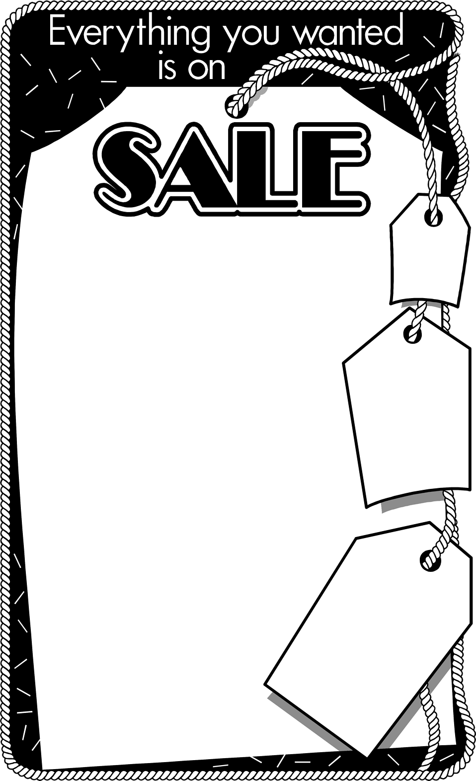 Illustration of a blank sales frame : Free Stock Photo