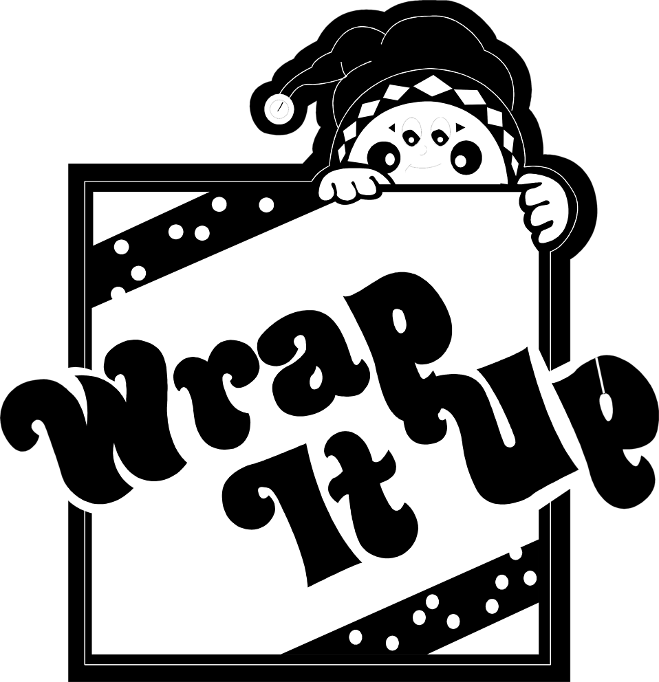 Illustration of a an elf with wrapping text : Free Stock Photo