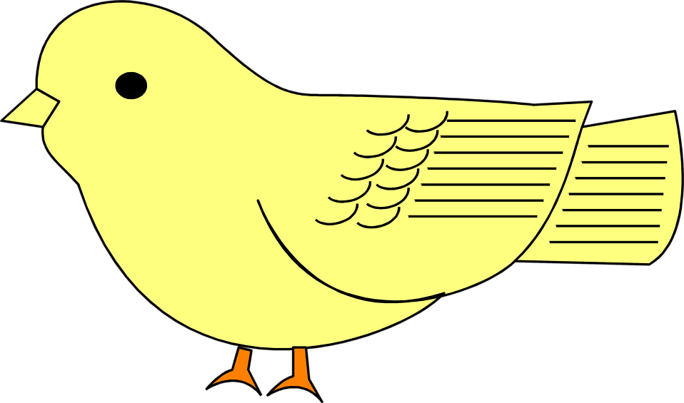 Illustration of a yellow sparrow : Free Stock Photo