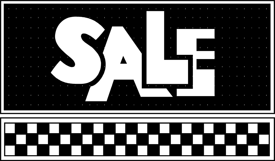 Illustration of checkerboard sales text : Free Stock Photo