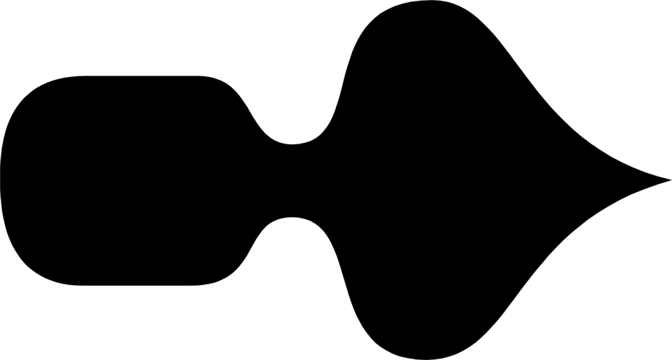 Illustration of a black right facing arrow : Free Stock Photo