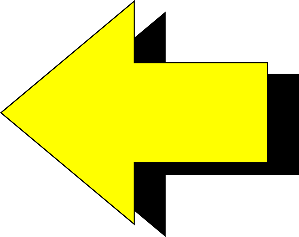 Illustration of a yellow left pointing arrow : Free Stock Photo