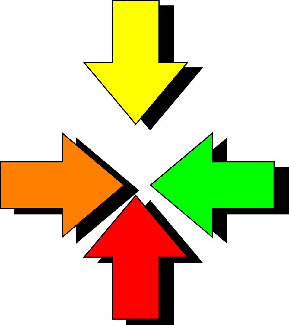 Illustration of multi colored arrows : Free Stock Photo