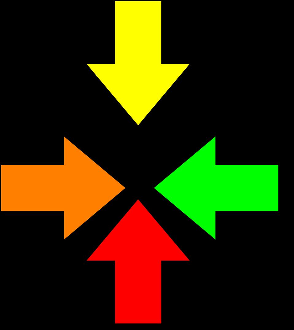 Illustration of multi colored arrows : Free Stock Photo