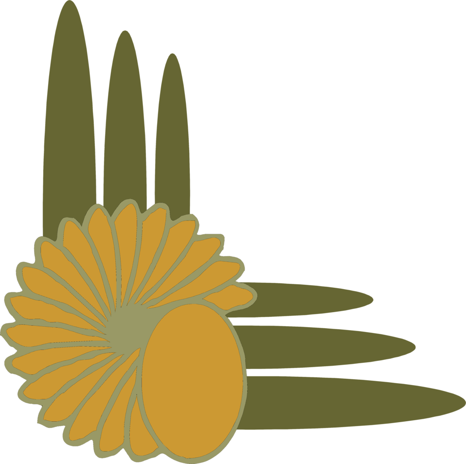 Illustration of a floral lower left frame corner : Free Stock Photo