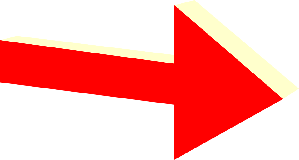 Illustration of a 3d red right arrow : Free Stock Photo
