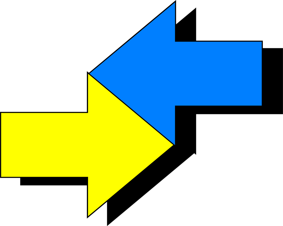 Illustration of intersecting arrows : Free Stock Photo