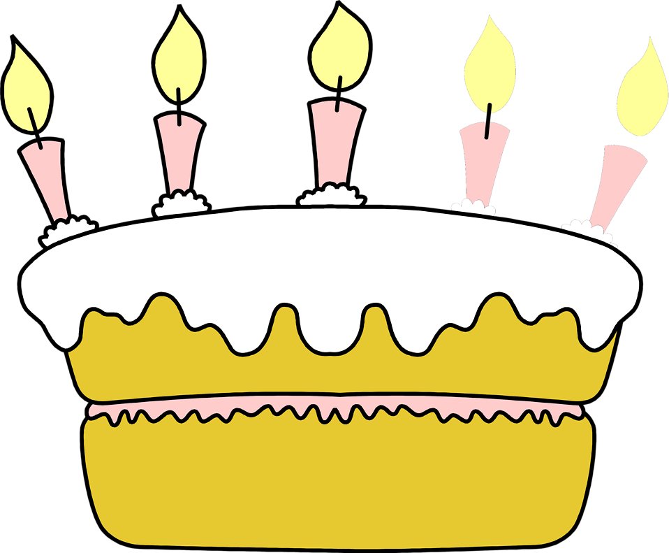 Illustration of a birthday cake : Free Stock Photo