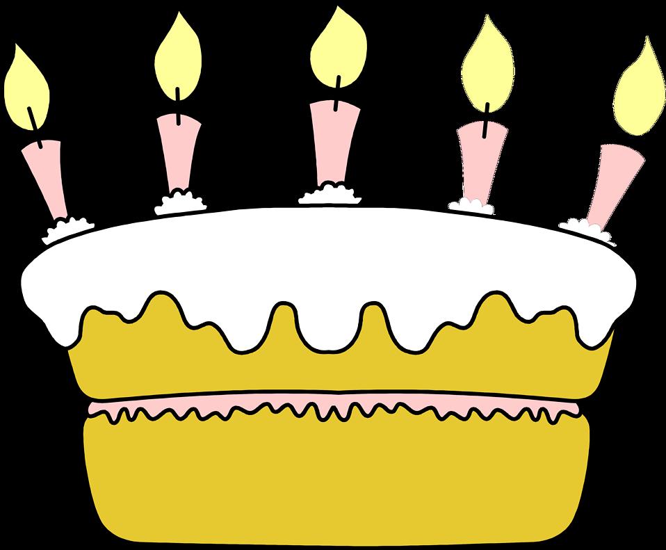 Illustration of a birthday cake : Free Stock Photo