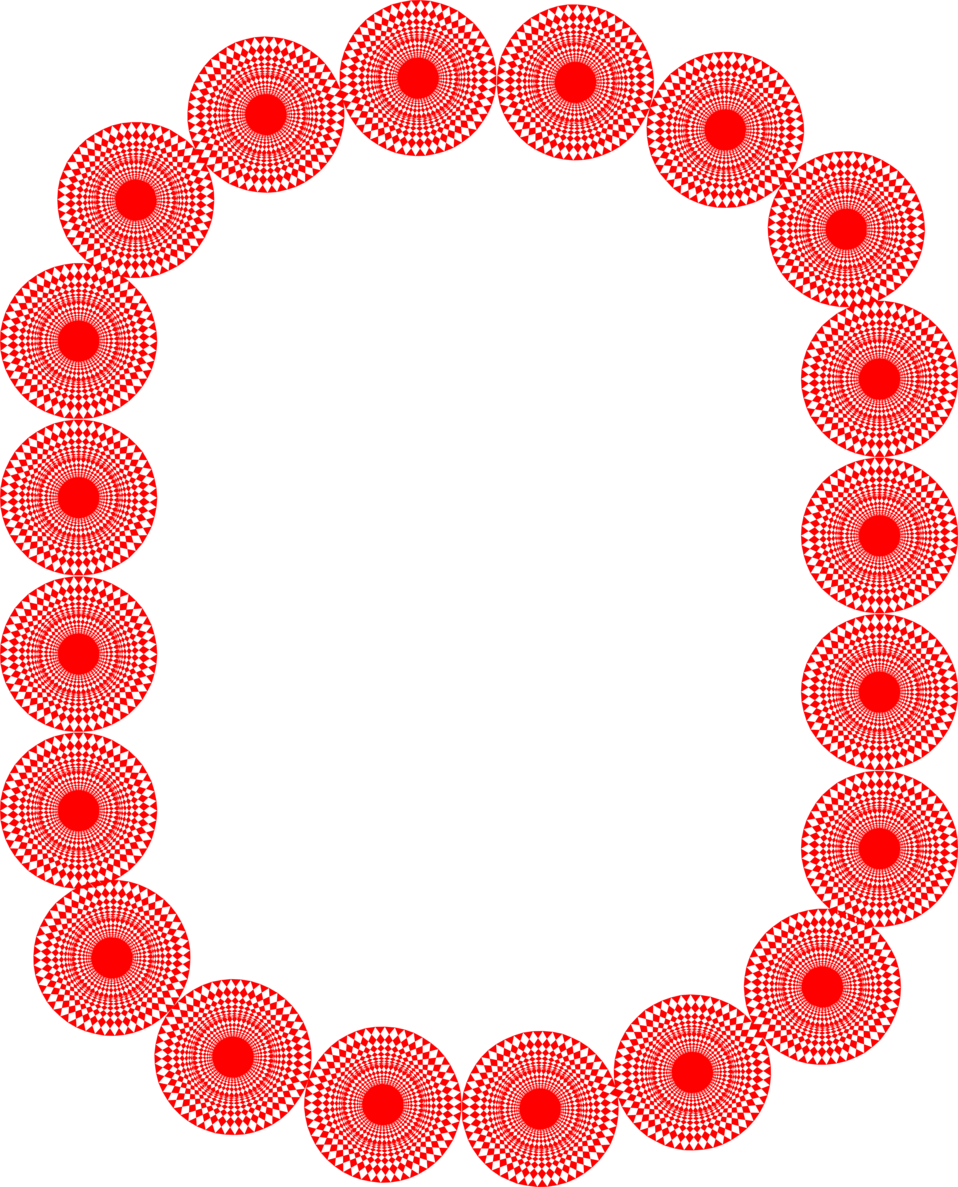Illustration of a border of red circles : Free Stock Photo
